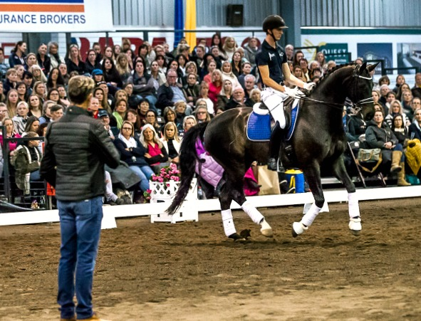 Carl Hester and Riley Alexander